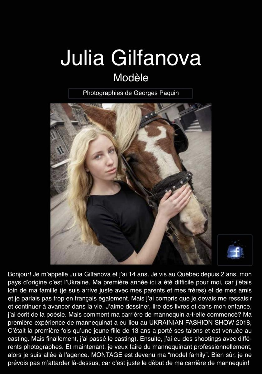 """Portfolio de Julia dans la revue """"Émergence"""""""
