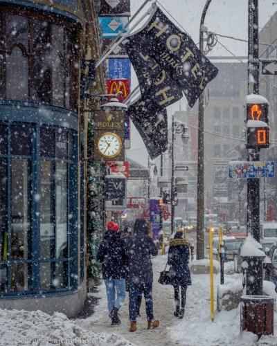 Centre-ville de Montréal - 31 décembre 2019