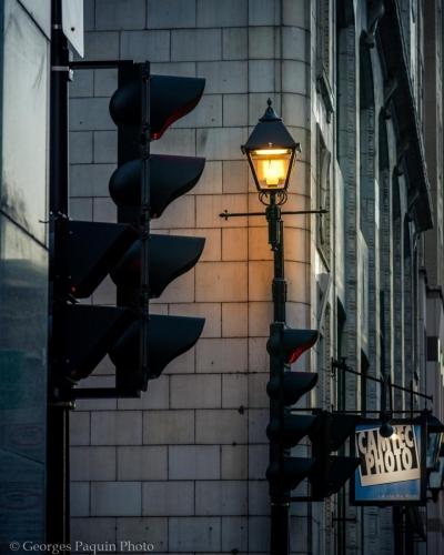 Vieux-Montréal la nuit.